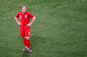 Dejected Wayne Rooney of England after being knocked out of the tournament during the 2010 FIFA World Cup South Africa Round of Sixteen match between...