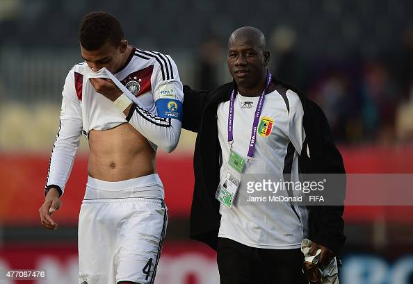 Dejection for Kevin Akpoguma of Germany during the FIFA U20 World Cup New Zealand 2015 Quarter Final match between Mali and Germany at Christchurch...