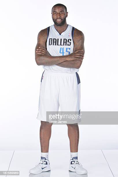 DeJuan Blair of the Dallas Mavericks poses for a photo at the Dallas Mavericks 20132014 Media Day on September 30 2013 at the American Airlines...