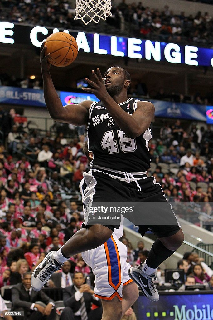DeJuan Blair of the Rookie team shoots against the Sophomore team during the second half of the TMobile Rookie Challenge Youth Jam part of 2010 NBA...