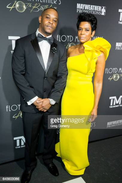 Dejuan Blake and Toni Welch attends Floyd Mayweather's 40th Birthday Celebration on February 25 2017 in Los Angeles California
