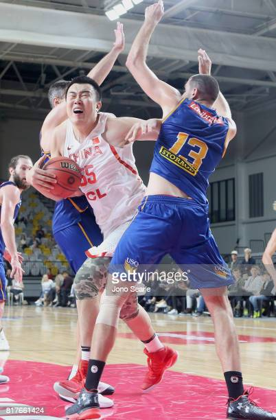 Dejun Han of China during the match between the Brisbane Bullets and China at the Gold Coast Sports Leisure Centre on July 18 2017 in Gold Coast...