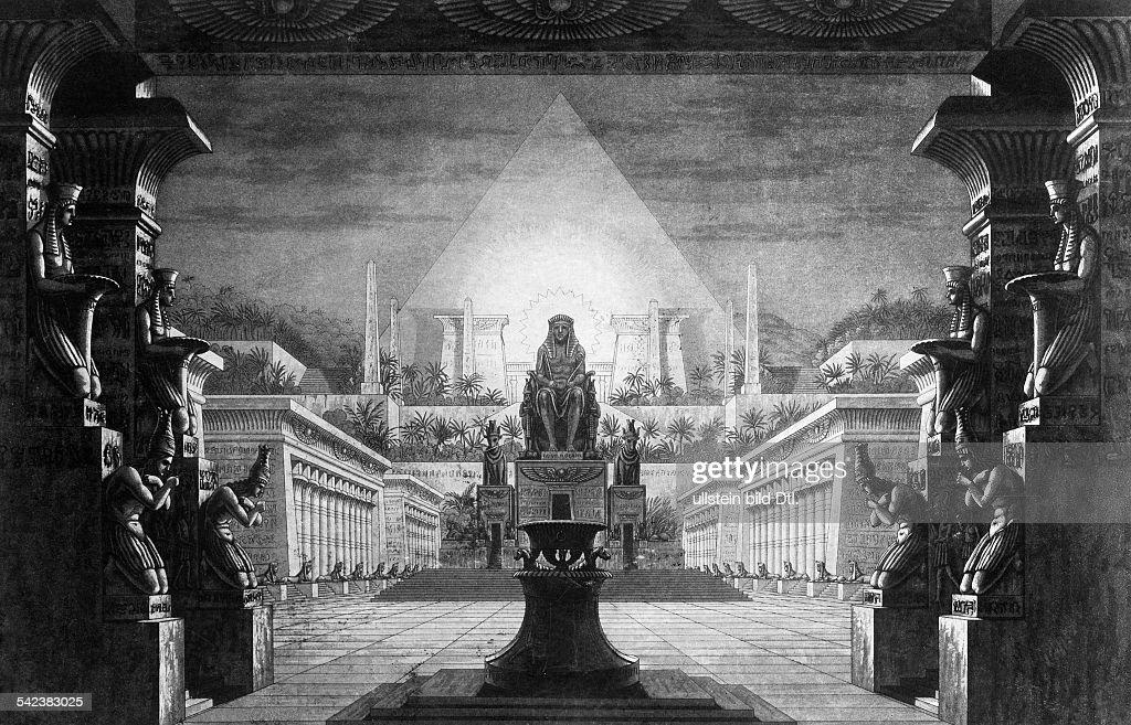 Dekoration zur 'Zauberflöte' vonWA Mozart Berliner Aufführung 1815