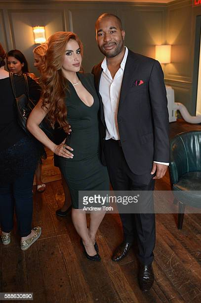 Del Addison and Jessica Cediel attends the Ego Soleil Fashion Label Launch of SS17 Fashion Collection in New York City on August 11 2016 in New York...