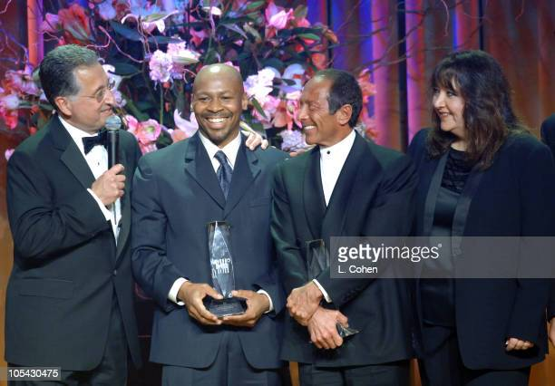 Del Bryant president/CEO of BMI Kevin Eubanks and Paul Anka 'Tonight Show' theme composers with Doreen Ringer Roos vice president of Film/TV...