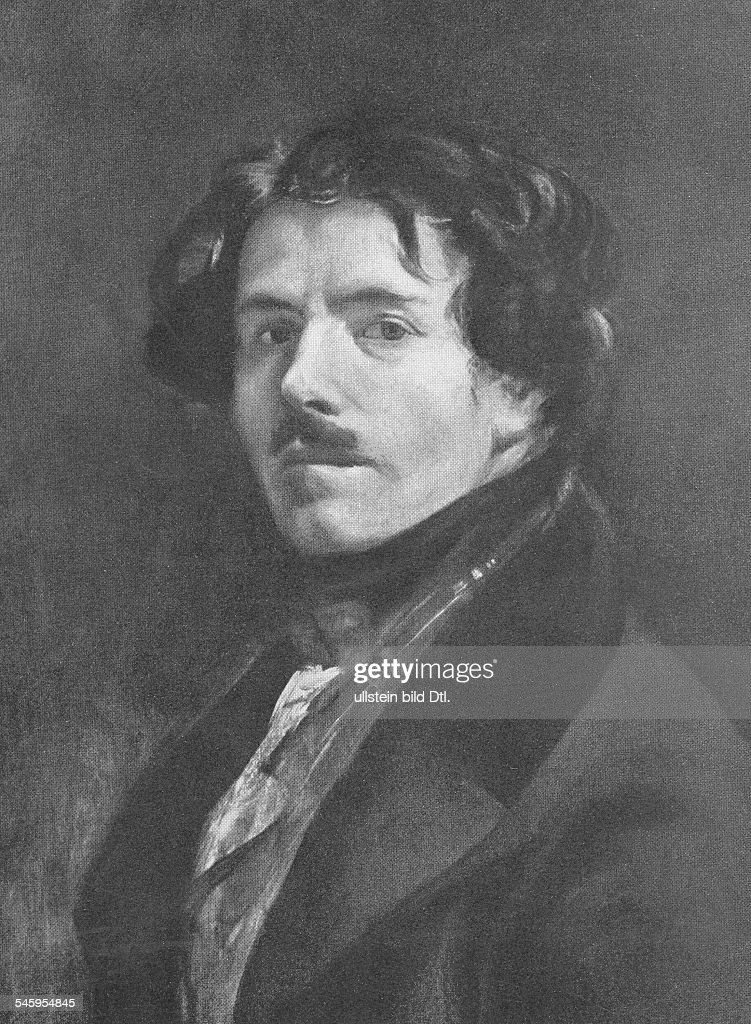 Delacroix, Eugene - Painter, F*26.04.1798-13.08.1863+- selfportrait, oil painting - Photographer: Walter GirckeVintage property of ullstein bild