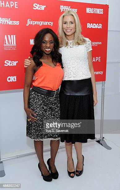 Delaina Dixon and Aviva Drescher attend American Media And Genesis Media Present Cinco de Mayo Party on May 5 2014 in New York City