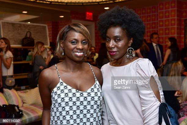 Delaina Dixon and Maureen Martin attend the launch of The Collector Geneva's Sophie Bonvin Code Collection in Collaboration with artist Bill Claps at...