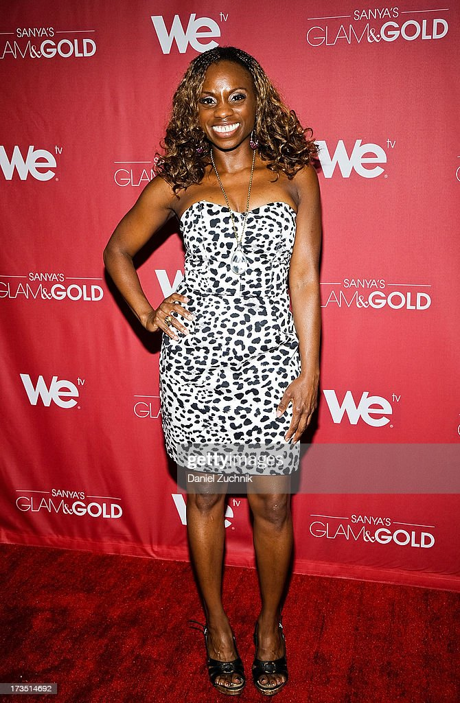 Delaina Dixon attends 'Sanya's Glam And Gold' Series Premiere at the Gansevoort Hotel on July 15, 2013 in New York City.