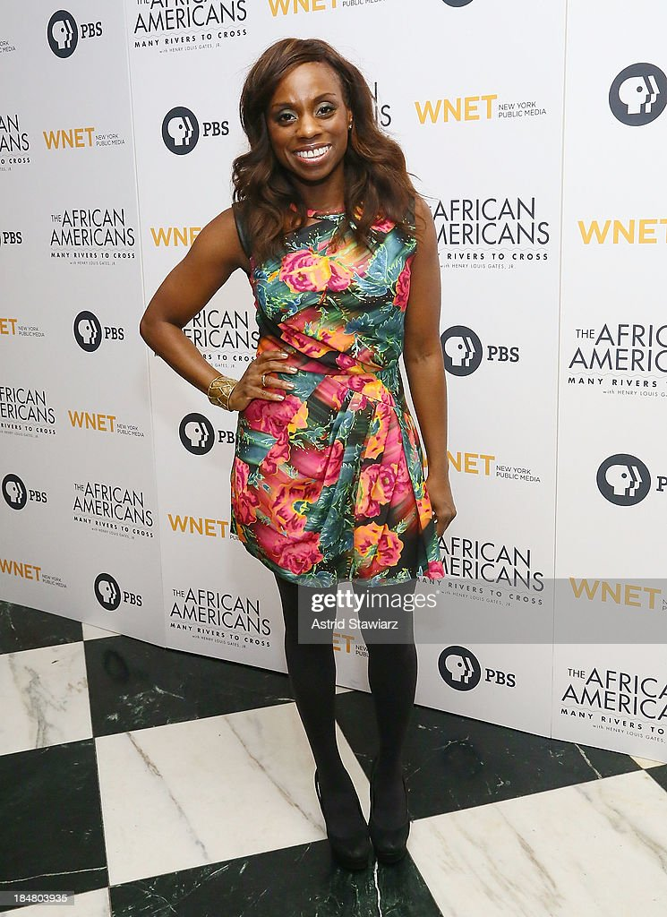 Delaina Dixon attends 'The African Americans: Many Rivers to Cross' New York Series Premiere at the Paris Theater on October 16, 2013 in New York City.