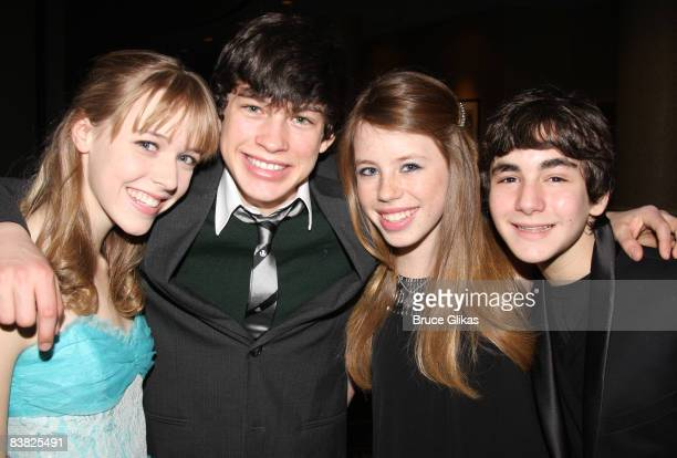Delaney Moro Graham Phillips Allie Trimm and Aaron Simon Gross of the cast of '13' pose at the 2008 Rosie's For All Kids Foundation Gala for the...