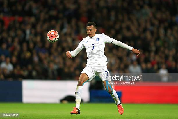Dele Alli of England during the International Friendly match between England and France at Wembley Stadium on November 17 2015 in London England