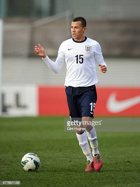 Dele Alli of England during the U18 International friendly match between England and Croatia at St Georges Park on March 5 2014 in Burton upon Trent...