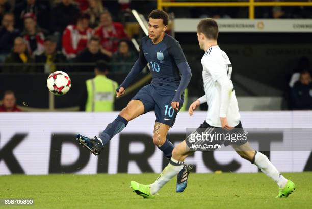 Dele Alli of England in action during the international friendly match between Germany and England at Signal Iduna Park on March 22 2017 in Dortmund...