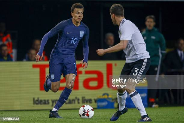 Dele Alli of England Jonas Hector of Germanyduring the friendly match between Germany and England on March 22 2017 at the Signal Iduna Park stadium...