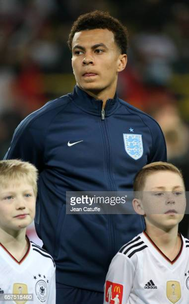 Dele Alli of England looks on before the international friendly match between Germany and England at Signal Iduna Park on March 22 2017 in Dortmund...