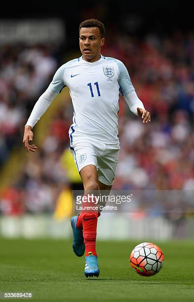 Dele Alli of England looks on during the International Friendly match between England and Turkey at Etihad Stadium on May 22 2016 in Manchester...