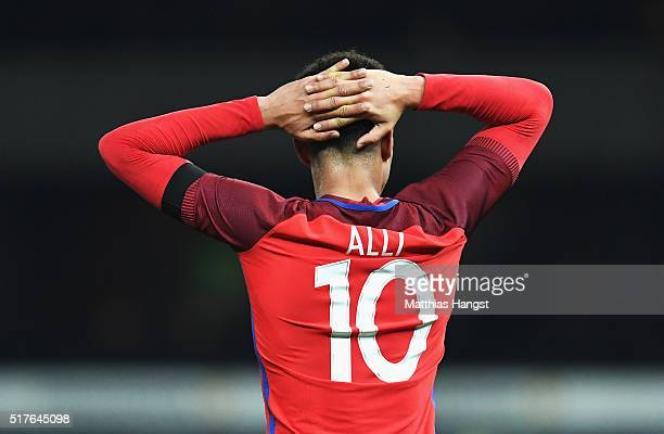 Dele Alli of England reacts during the International Friendly match between Germany and England at Olympiastadion on March 26 2016 in Berlin Germany
