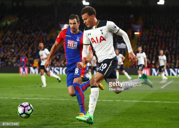 Dele Alli of Tottenham Hotspur and James McArthur of Crystal Palace during the Premier League match between Crystal Palace and Tottenham Hotspur at...