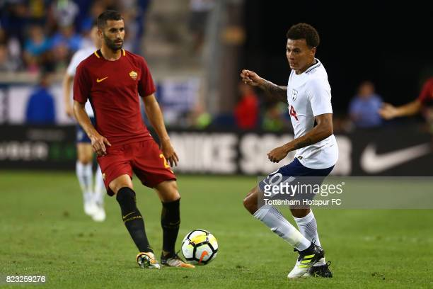 Dele Alli of Tottenham Hotspur in action against the Roma during the International Champions Cup 2017 at Red Bull Arena on July 25 2017 in Harrison...