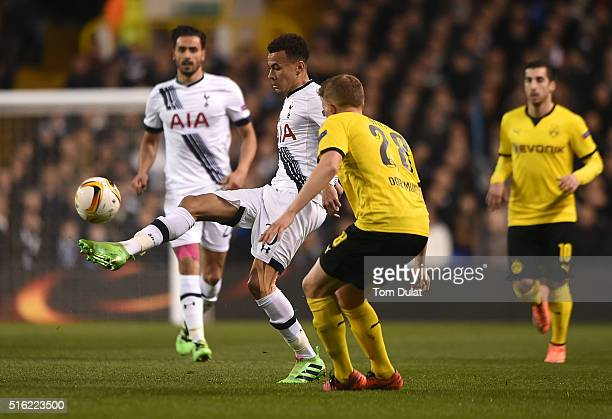 Dele Alli of Tottenham Hotspur in action during the UEFA Europa League Round of 16 Second Leg match between Tottenham Hotspur and Borussia Dortmund...
