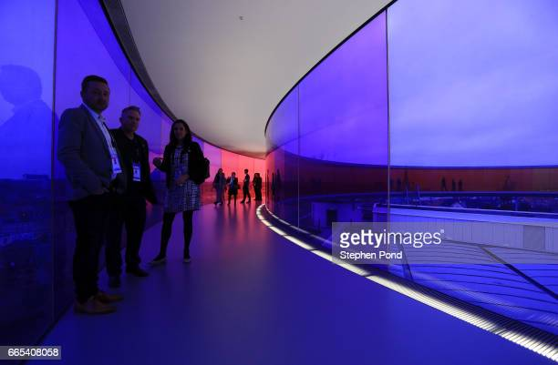 Delegates at the Closing Ceremony held at the ARoS Art Museum during the fifth day of SportAccord Convention 2017 at the Scandinavian Centre on April...
