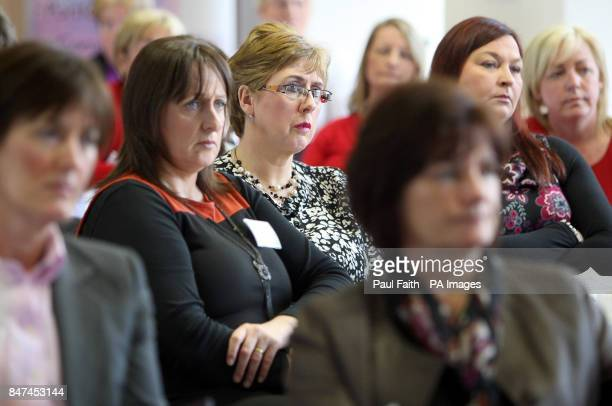 Delegates at the Ward Sister Conference in Mossley Mill Newtownabbey listen to Health Minister Edwin Poots during his speech