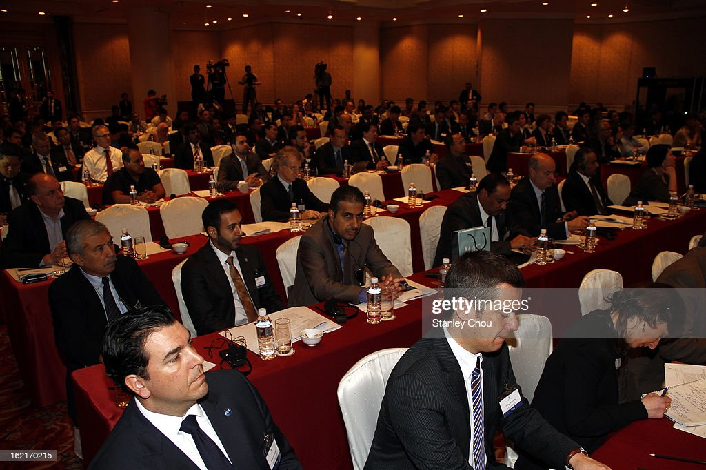 Delegates during an INTERPOL (International Criminal Police Organization) conference at AFC House on February 20, 2013 in Kuala Lumpur, Malaysia. Law enforcement officials and representatives from football associations gather in Malaysia to discuss 'Match fixing: The Ugly Side of the Beautiful Game'.