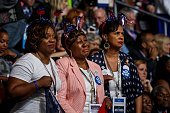 PHILADELPHIA PA TUESDAY JULY 26 2016 Delegates get emotional listening to the personal stories of the Mothers of the Movement at the 2016 Democratic...