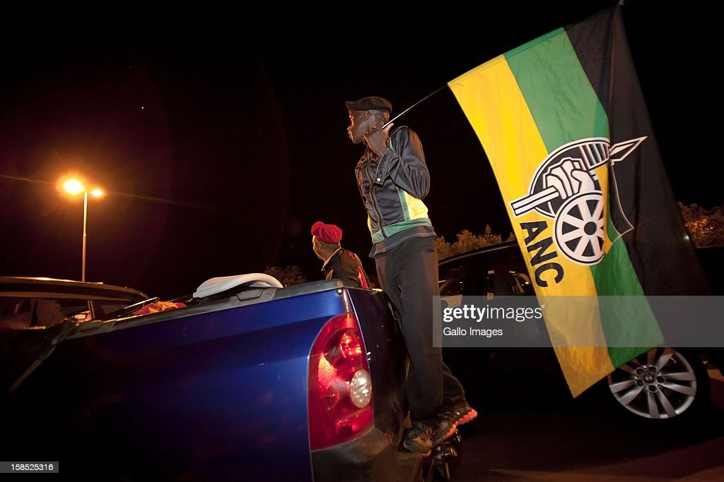 Delegates leave the ANC's elective conference on December 17, 2012 in Mangaung, South Africa.
