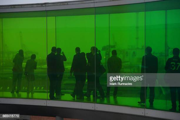 Delegates on the viewing gallery at the ARoS Art Museum at SportAccord Convention Closing Event during the fifth day of SportAccord Convention 2017...