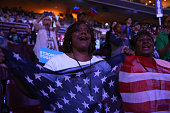Delegates stand and cheer during the evening session on the second day of the Democratic National Convention at the Wells Fargo Center July 26 2016...