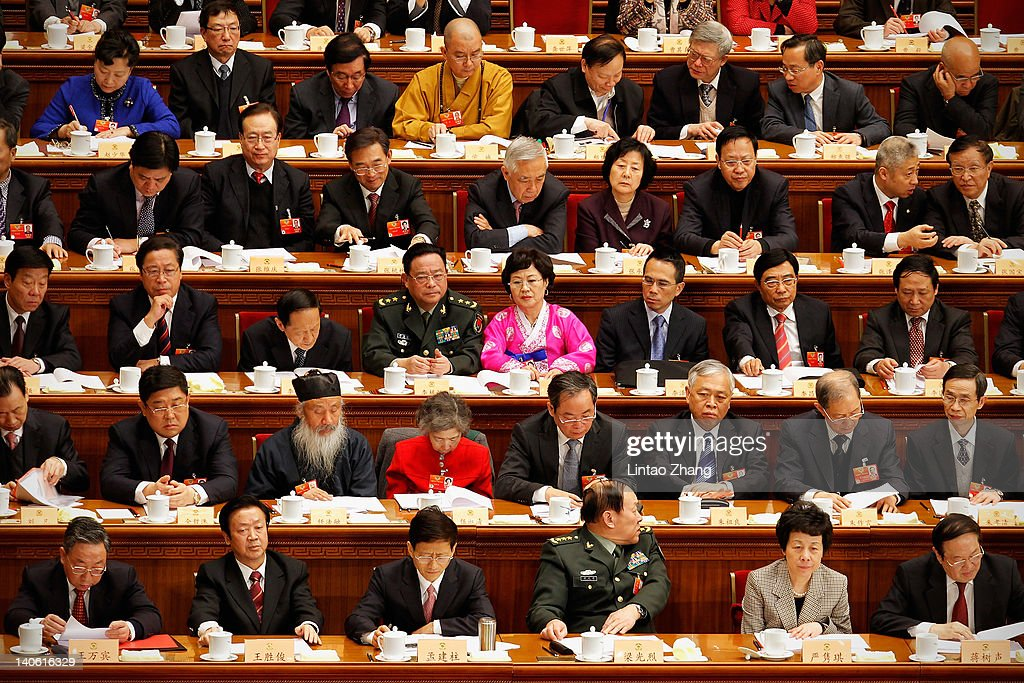 Delegates take their seats for the opening ceremony of the Chinese People's Political Consultative Conference (CPPCC) at the Great Hall of the People on March 3, 2012 in Beijing, China. The Chinese People's Political Consultative Conference opens on March 3 in Beijing.