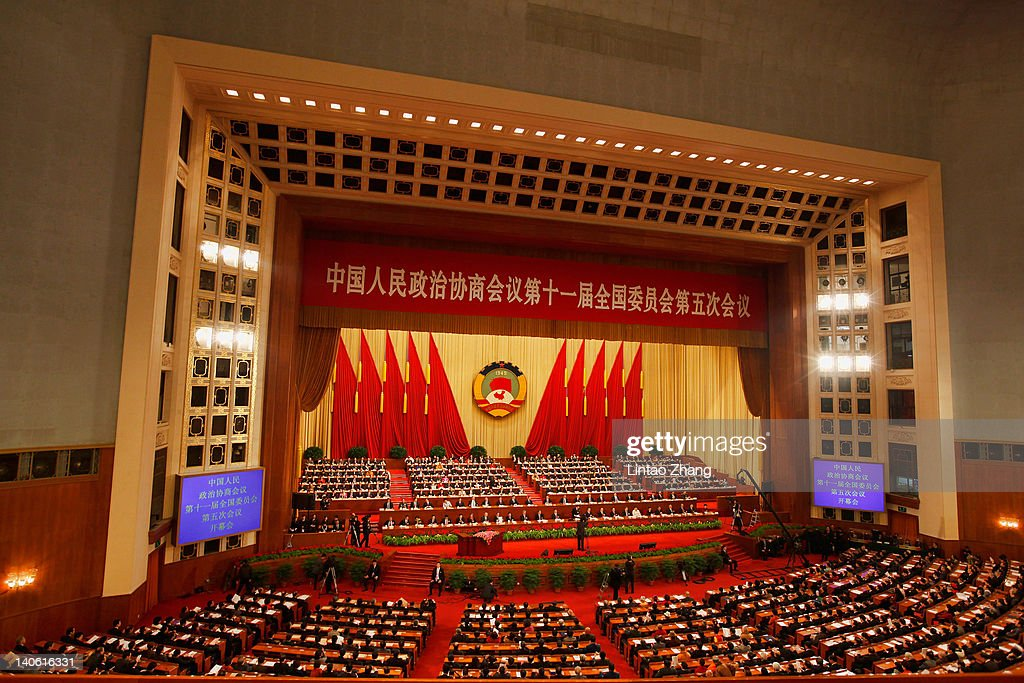 Delegates take their seats for the opening ceremony of the Chinese People's Political Consultative Conference (CPPCC) at Great Hall of the People on March 3, 2012 in Beijing, China. The Chinese People's Political Consultative Conference opens on March 3 in Beijing.
