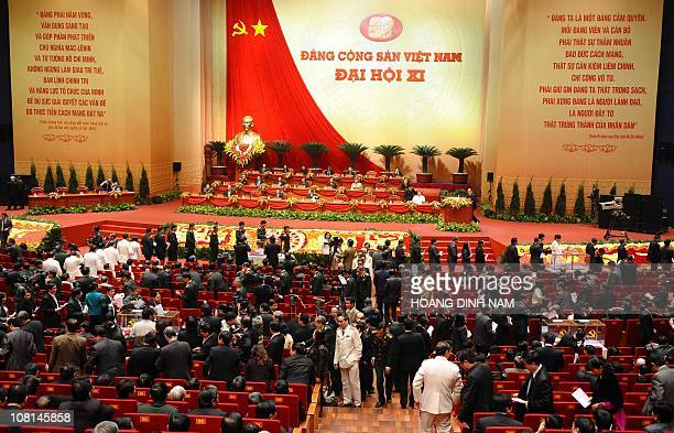 Delegates vote to elect the Vietnam Communist Party 's new Central Committee members in during its 11th national congress in Hanoi on January 17 2011...