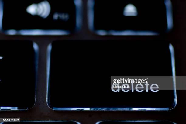 Delete key on an illuminated keyboard of a MacBook Pro