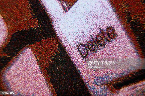 Delete key on keyboard, close-up (digital)