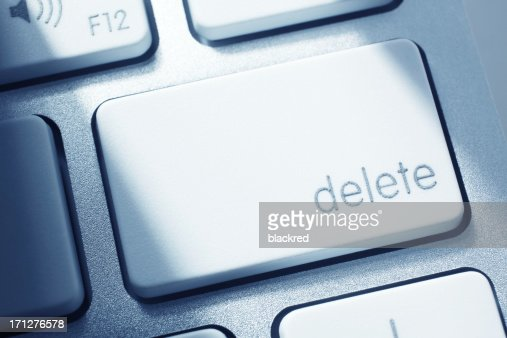 Delete : Stock Photo
