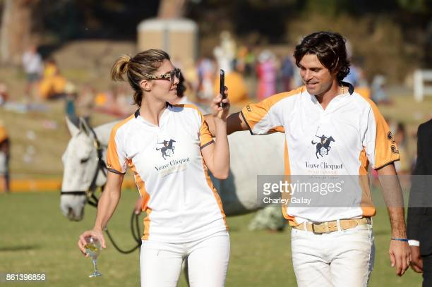Delfina Blaquier and Nacho Figueras at the Eighth Annual Veuve Clicquot Polo Classic on October 14 2017 in Los Angeles California