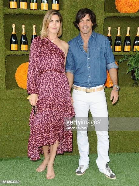Delfina Blaquier and Nacho Figueras attend the 8th annual Veuve Clicquot Polo Classic at Will Rogers State Historic Park on October 14 2017 in...