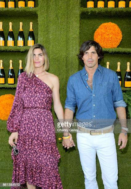 Delfina Blaquier and polo player Nacho Figueras at the Eighth Annual Veuve Clicquot Polo Classic on October 14 2017 in Los Angeles California