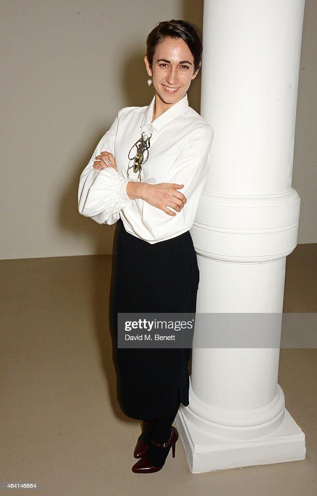Delfina Delettrez attends the Delfina Delettrez London boutique opening dinner during London Fashion Week Fall/Winter 2015/16 on February 22 2015 in...