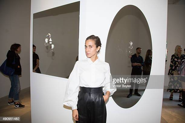 Delfina Delettrez attends the Delfina Delettrez Presentation as part of the Paris Fashion Week Womenswear Spring/Summer 2016>> on October 1 2015 in...