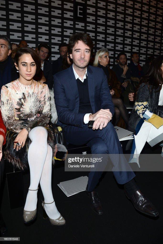 Delfina Delettrez Fendi and Antoine Arnault attend the Fendi fashion show as part of Milan Fashion Week Womenswear Fall/Winter 2013/14 on February 21...