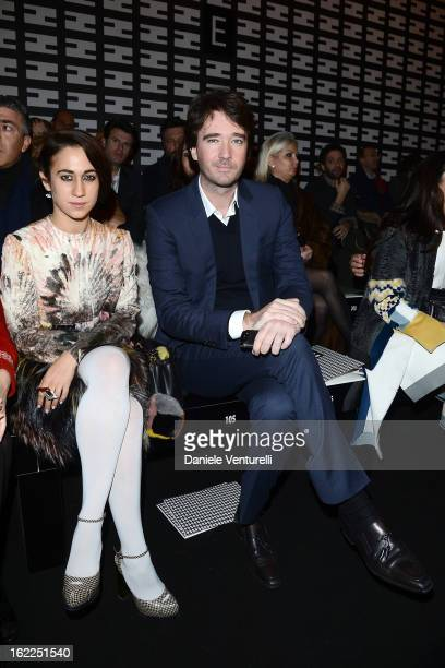 Delfina Delettrez Fendi and Antoine Arnault attend the Fendi fashion show as part of Milan Fashion Week Womenswear Fall/Winter 2013/14 on February 21...