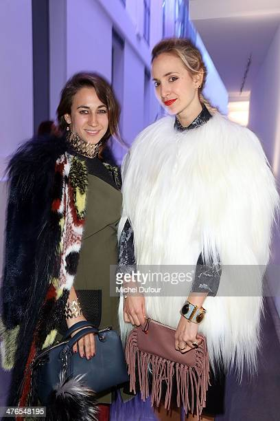 Delfina Delettrez Fendi and Elisabeth von Thurn und Taxis attend the Gaia Repossi's Jewelry Collection At Jeu de Paume as part of the Paris Fashion...