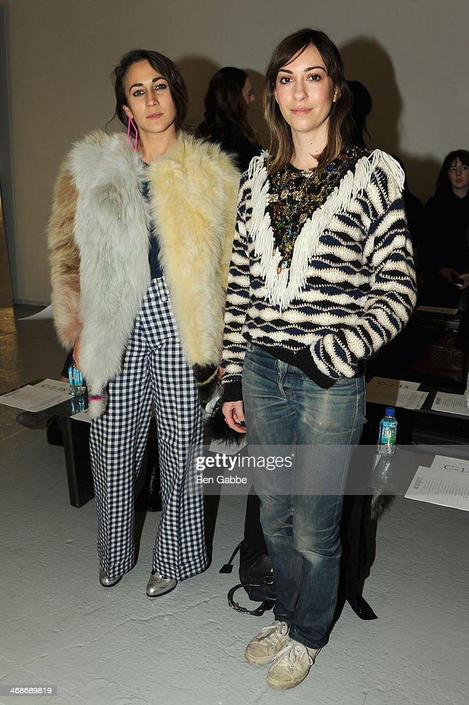Delfina Delettrez Fendi and Gia Coppola attend the Rodarte fashion show during MercedesBenz Fashion Week Fall 2014 at Center 548 on February 11 2014...