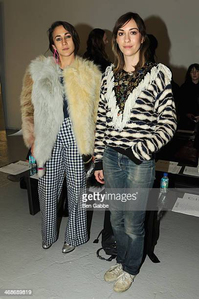 Delfina Delettrez Fendi and Gia Coppola attend the Rodarte fashion show during MercedesBenz Fashion Week Fall 2014 at Center 548 on February 11 2014...