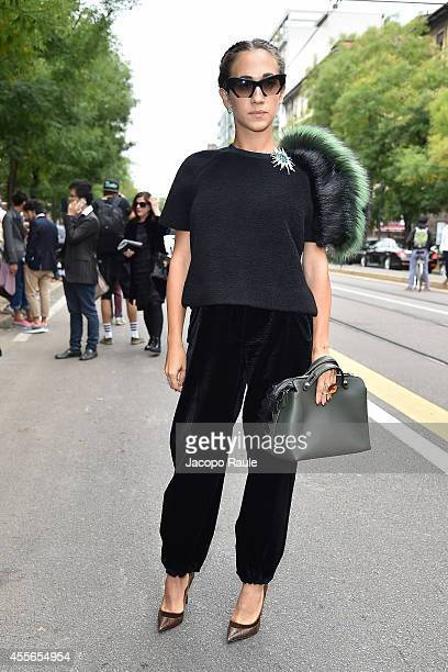 Delfina Delettrez Fendi arrives at Fendi Fashion Show during Milan Fashion Week Womenswear Spring/Summer 2015 on September 18 2014 in Milan Italy