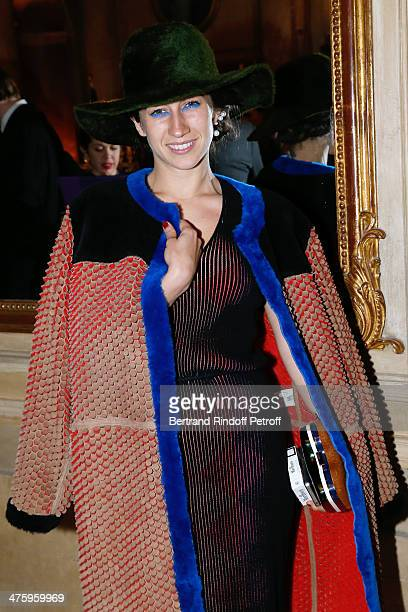Delfina Delettrez Fendi attending the Cocktail Dinatoire of German VOGUE in honor of Mario Testino at Restaurant 1728 on March 1 2014 in Paris France